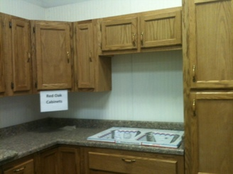 Red Oak Stained Displays Note* Cabinets Come Unfinished.